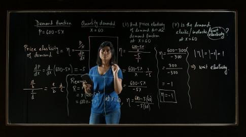 Math problem on screen
